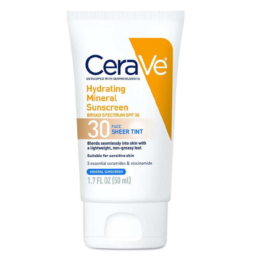 CeraVe Mineral Sunscreen Lotion for Face SPF 30 0.17fl oz