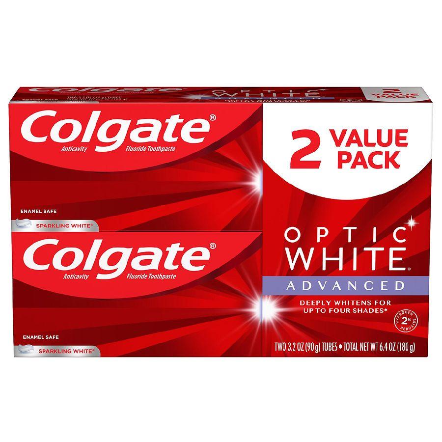 Colgate Optic White Advanced Teeth Whitening Toothpaste Sparkling