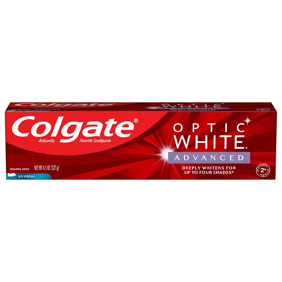 Colgate Optic White Advanced Teeth Whitening Toothpaste Icy Fresh