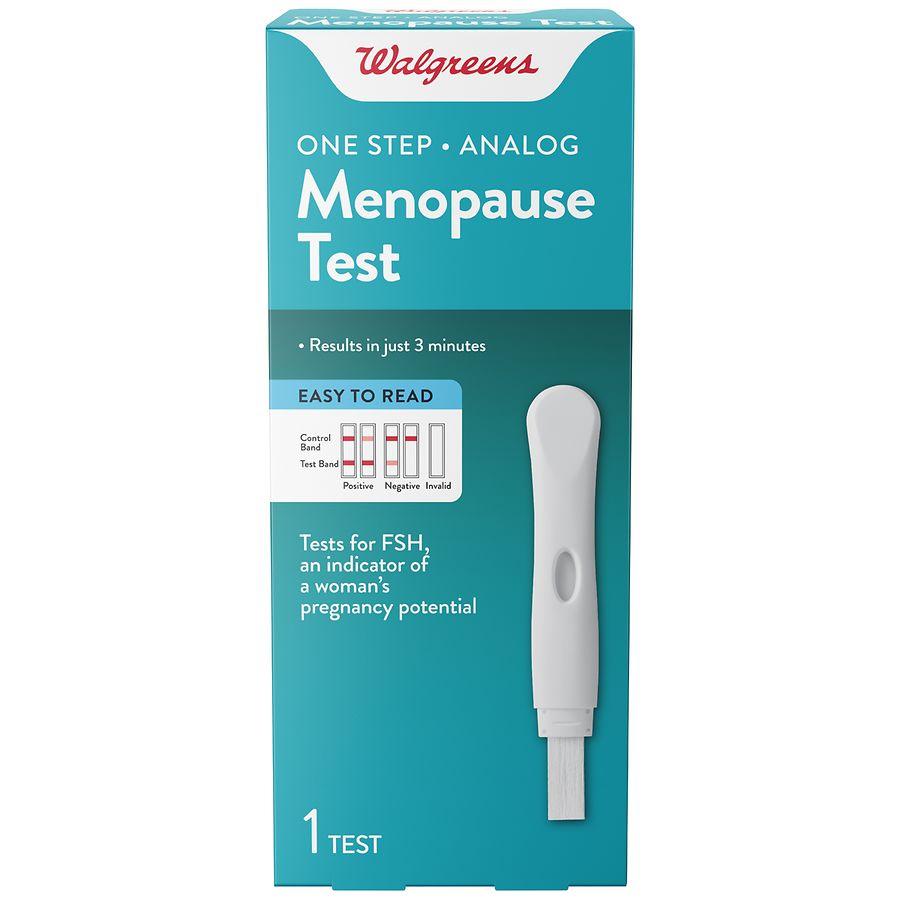 Walgreens One Step Menopause Test Walgreens