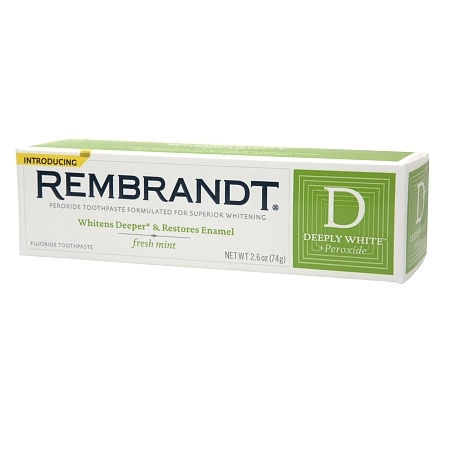 Rembrandt Deeply White + Peroxide Whitening Toothpaste with Fluoride Fresh Mint