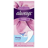 Always Thong Dailies Liners Unscented