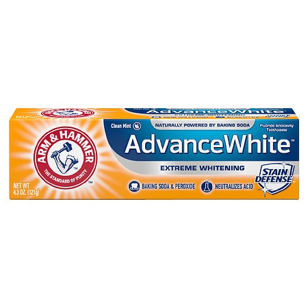 Arm & Hammer Dental Care Advance White Extreme Whitening Baking Soda & Peroxide Toothpaste Fresh Mint