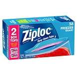wag-Ziploc Double Zipper Freezer Bags Quart