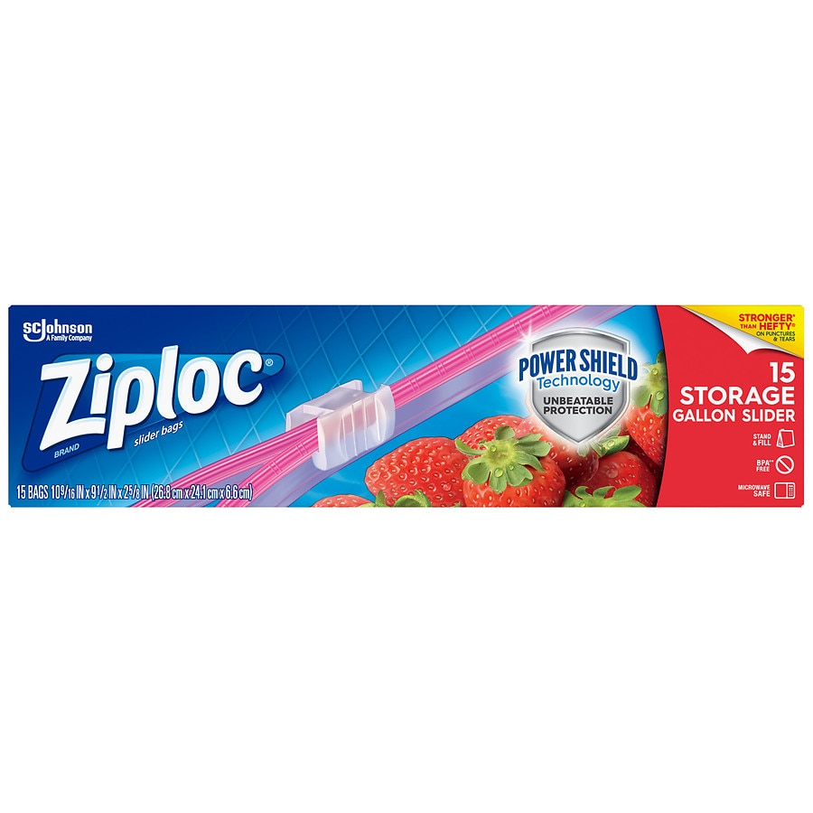 Product Large Image  sc 1 st  Walgreens & Ziploc Easy Zipper Storage Bags Gallon Size | Walgreens