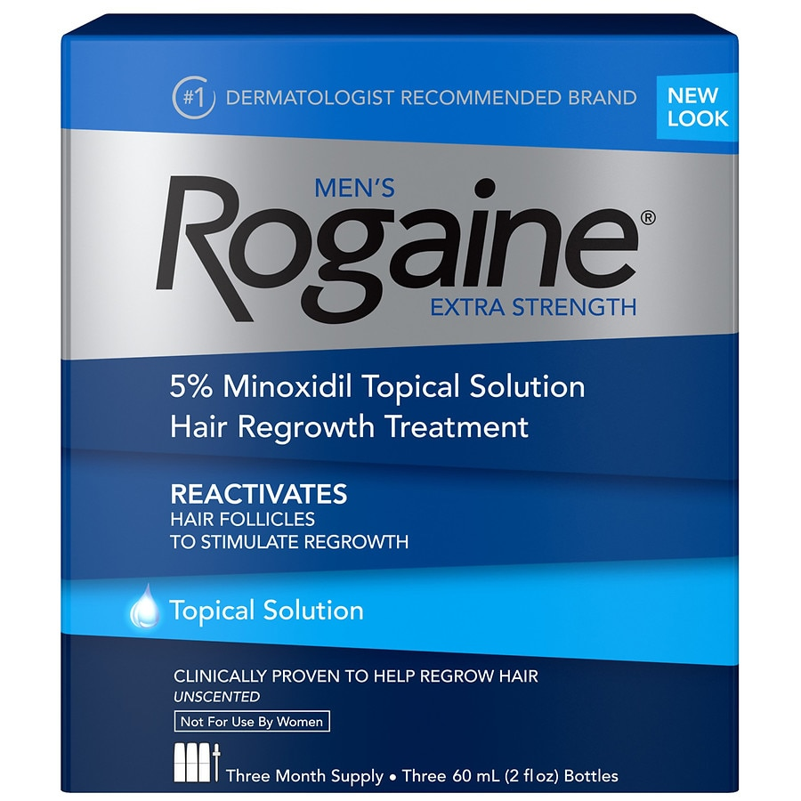 Rogaine Men's Extra Strength 5% Minoxidil Solution2.0 oz x 3 pack