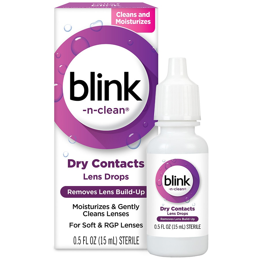 Complete By AMO Blink N Clean Lens Drops For Soft Contact Lenses