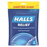 Halls Mentho-Lyptus Cough Suppressant Drops, Economy Pack Menthol-Lyptus