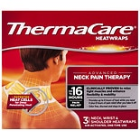 ThermaCare Advanced Neck Wrist & Shoulder Pain Therapy Heatwraps, Up to 16HR of Pain Relief