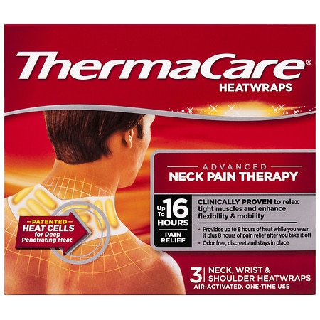 ThermaCare Advanced Neck, Wrist & Shoulder Pain Therapy Heatwraps - 3 Ea x 3 pack
