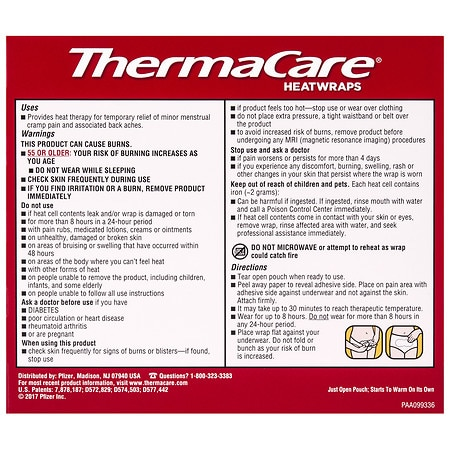 Thermacare Heatwraps Advanced Menstrual Pain Relief Therapy Walgreens