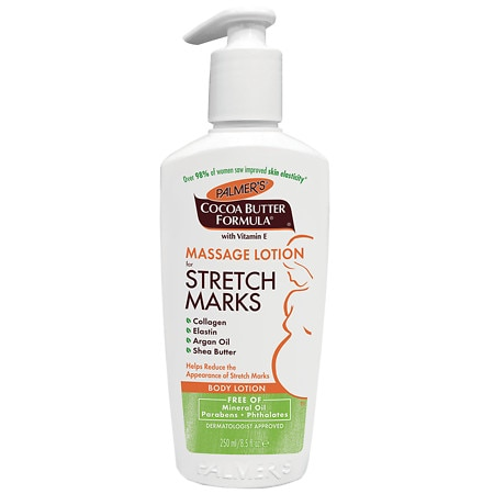 Massage lotion for stretch marks