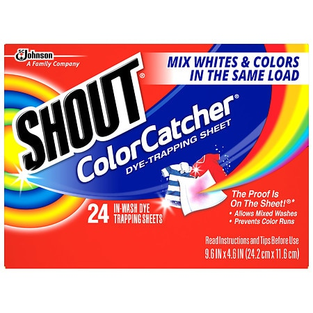 Shout Color Catcher In-Wash Sheets - 24 ea