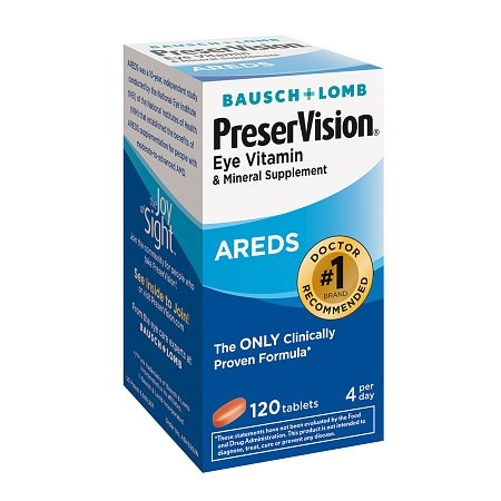 PreserVision Eye Vitamin and Mineral Supplement with AREDS, Tablets - 120 ea