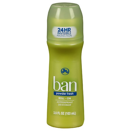 Ban Roll-On Antiperspirant & Deodorant Powder Fresh