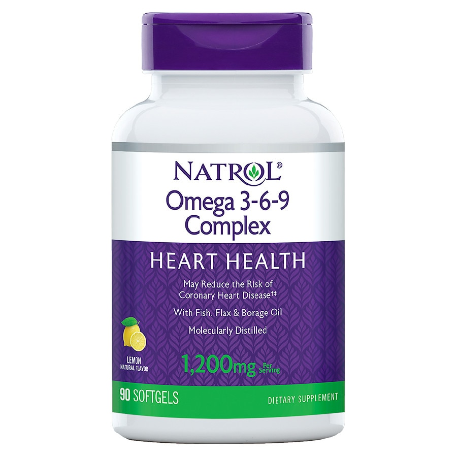 Natrol Omega 3 6 9 Complex Dietary Supplement Softgels Walgreens
