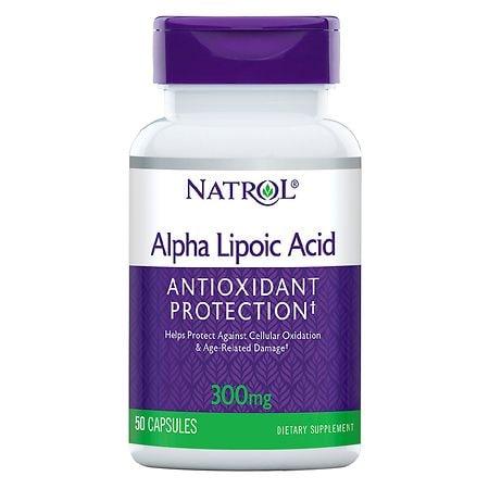 Natrol Alpha Lipoic Acid 300 mg Dietary Supplement Capsules - 50 ea