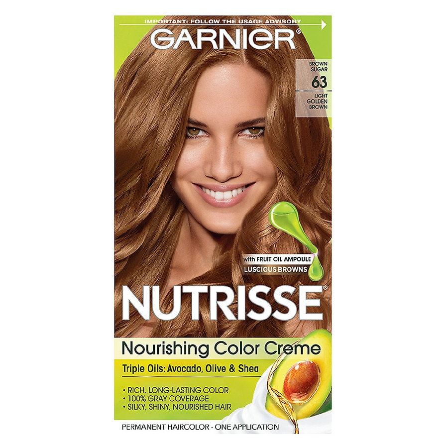 Garnier Nutrisse Nourishing Hair Color Cremebrown Sugar 63 Walgreens
