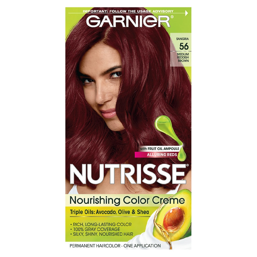 Garnier Nutrisse Nourishing Hair Color Creme 56 Medium Reddish Brown