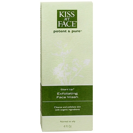 Kiss My Face Potent And Pure Start Up, Exfoliating Face Wash 4 Fl Oz