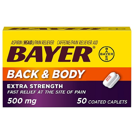 Bayer Back & Body Pain Reliever Coated Caplets