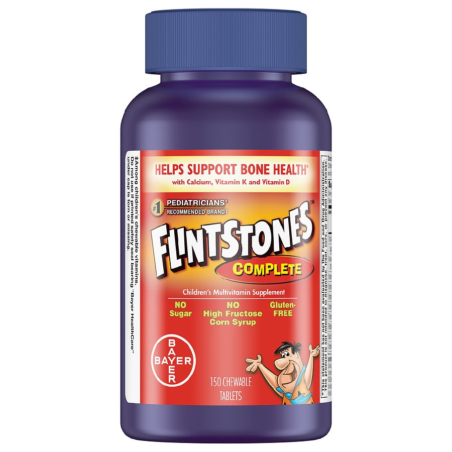 Best Children\'S Vitamins 2020 Flintstones Children's Complete Multivitamin Supplement Chewable