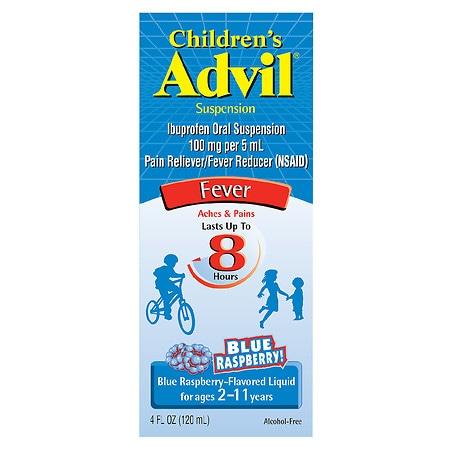 Children's Advil Ibuprofen Oral Suspension Blue Raspberry - 4 fl oz