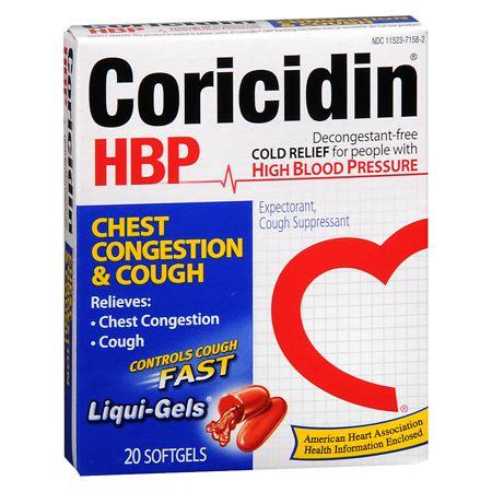 Coricidin HBP Chest Congestion & Cough, Non-Drowsy Liqui-Gels - 20 ea