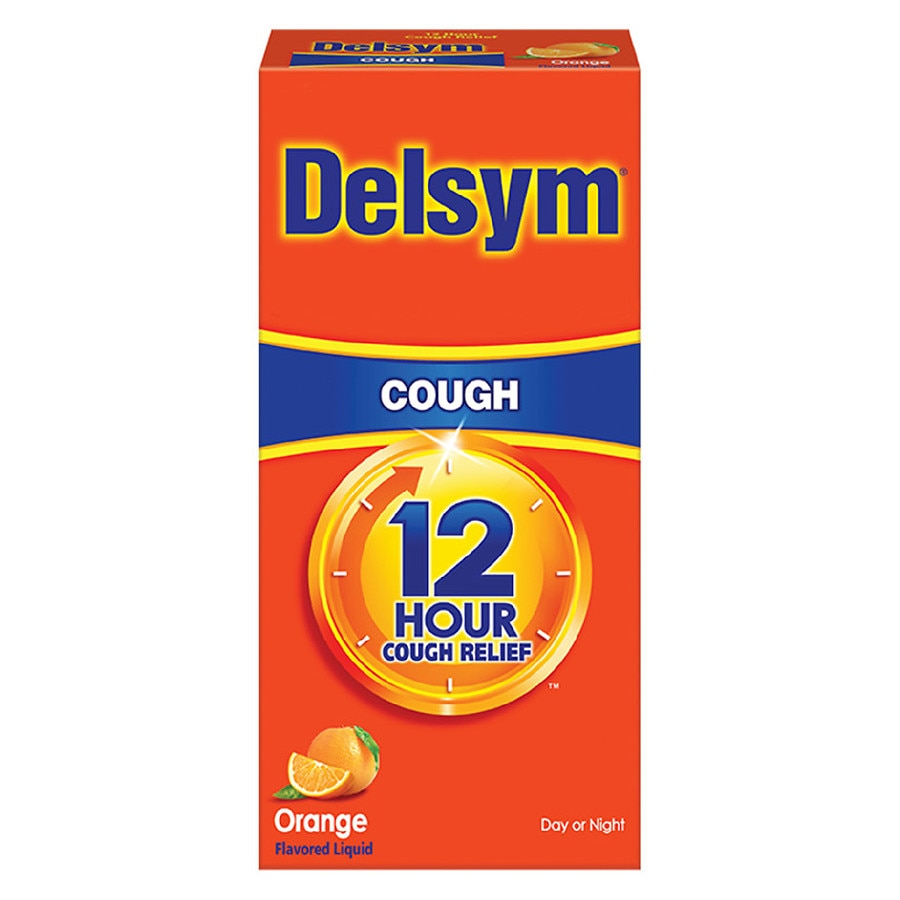 Delsym Extended Release Cough Suppressant 12 Hour Orange Flavored Liquid