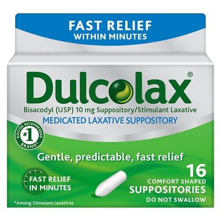 Dulcolax Laxative Comfort Shaped Suppositories - 16 ea