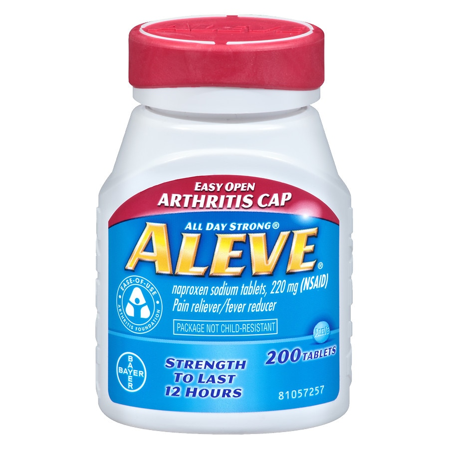 aleve pain reliever fever reducer easy open cap, tablets | walgreens