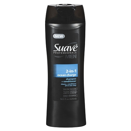 Suave Men 2 in 1 Shampoo + Conditioner Ocean Charge Clean