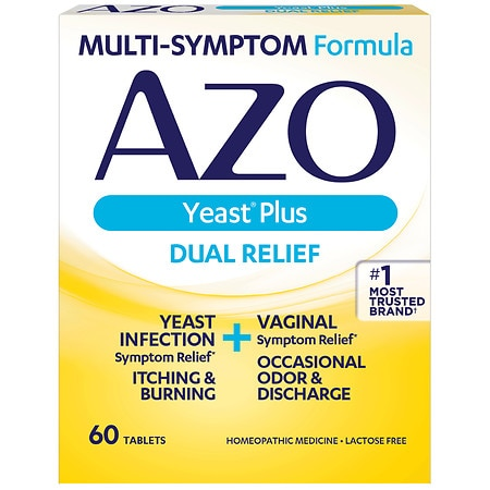 AZO Yeast Infection Symptom Treatment Tablets - 60 ea