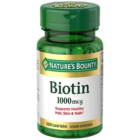 Nature's Bounty Biotin, 1000mcg Tablets - 100 ea