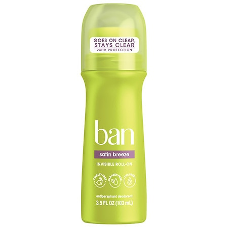 Ban Roll-On Antiperspirant & Deodorant Satin Breeze