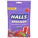 Halls Breezers Pectin Throat Drops Cool Berry