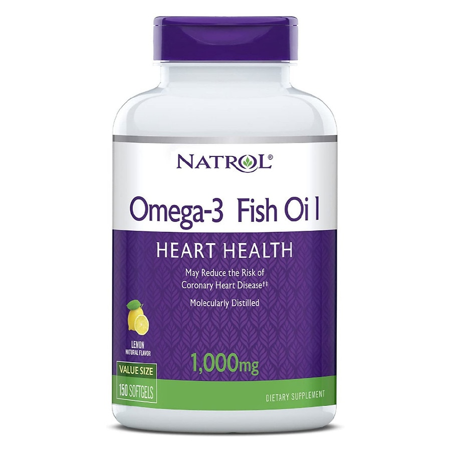 Natrol omega 3 fish oil 1000 mg dietary supplement for Multivitamin with fish oil