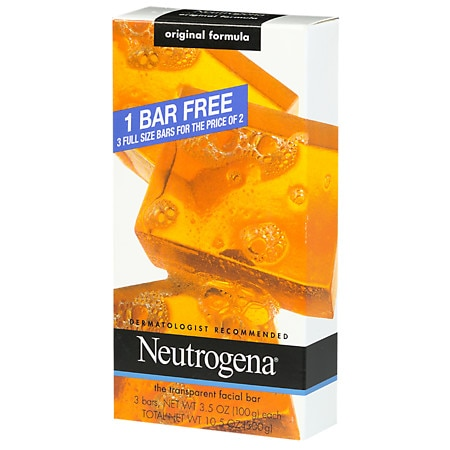 Neutrogena Transparent Facial Bar - 3.5 oz. x 3 pack