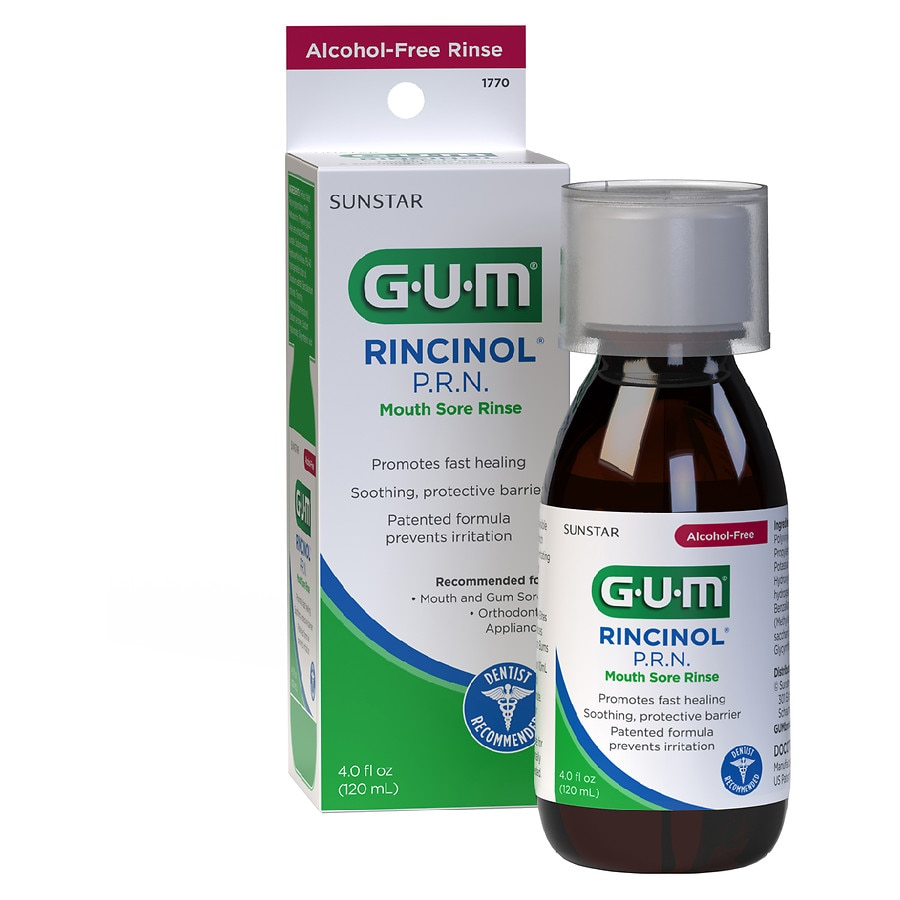 G U M Rincinol Prn Mouth Sore Rinse Walgreens