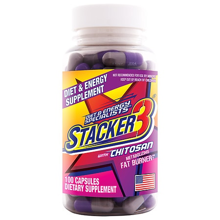 Stacker 3 Herbal Dietary Supplement Capsules - 100 ea