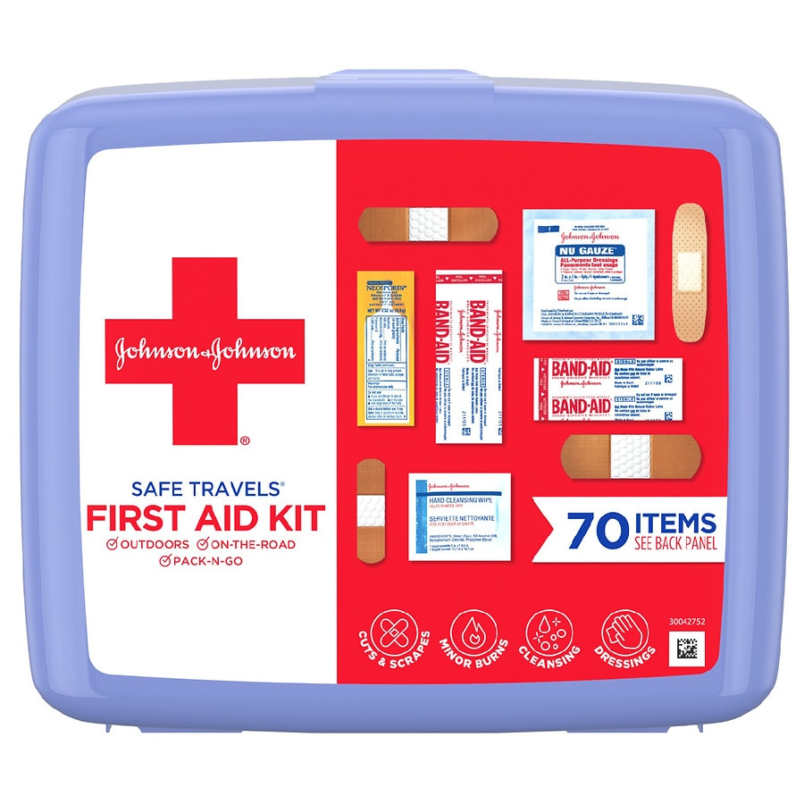Johnson   Johnson Red Cross Safe Travels First Aid Kit1.0 ea 604b9afc854d8