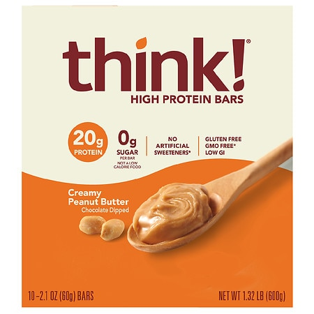 thinkThin High Protein Bars Creamy Peanut Butter, 10 pk