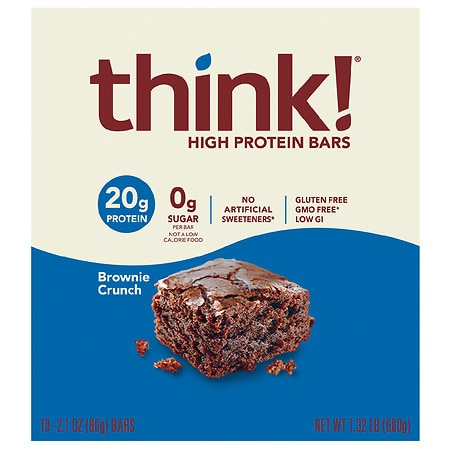 thinkThin High Protein Bars Brownie Crunch, 10 pk