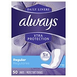 Always Xtra Protection Daily Liners, Regular Unscented
