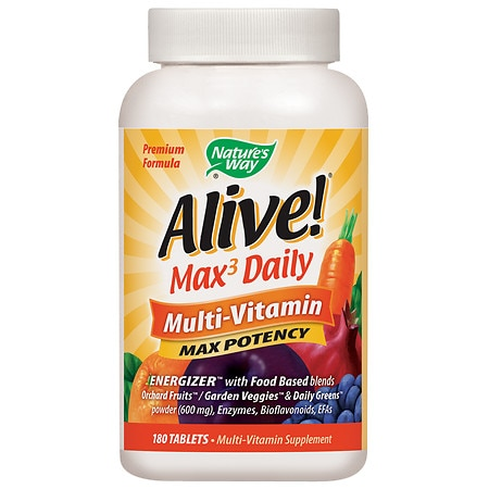 Nature's Way Alive! Whole Food Energizer Multivitamin, Tablets