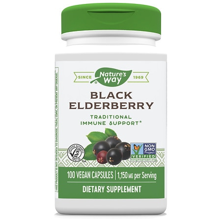 Nature's Way Elderberry, Vegetarian Capsules - 100 ea
