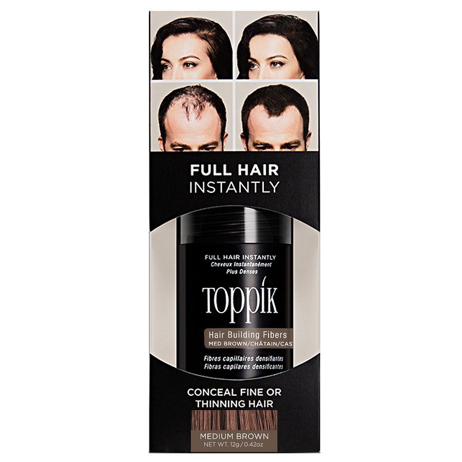 Toppik Hair Building Fibers Medium Brown Walgreens