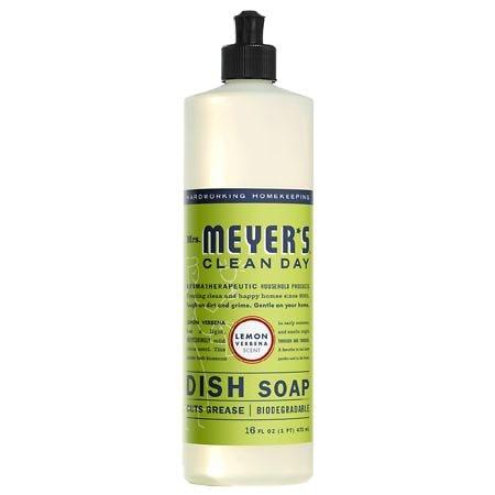 Mrs. Meyers Clean Day Liquid Dish Soap Lemon Verbena 16 Fl Oz