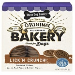 wag-Lick'n Crunch, All-Natural Sandwich Cookie Treats for Dogs Peanut Butter
