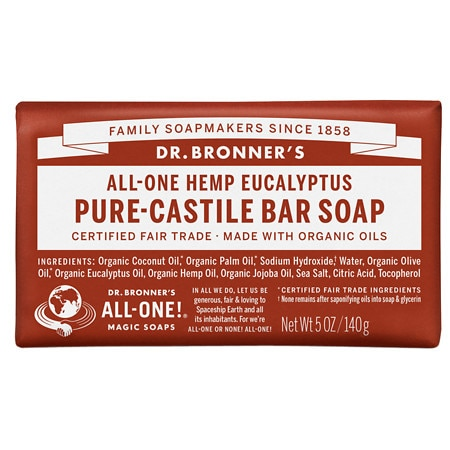 Dr. Bronner's All-One Hemp Pure-Castile Soap Bar Eucalyptus - 5 oz. ShopFest Money Saver